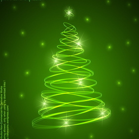 Abstract Christmas Tree Background 2 - vector gratuit #211765