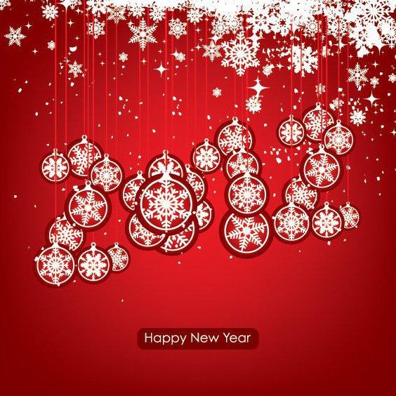 Joyeux nouvel an 2012 - vector gratuit #211805