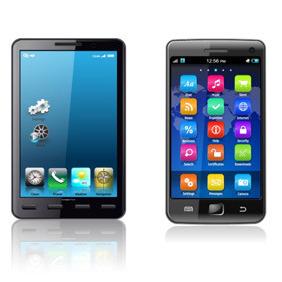 Vector Smartphones - Free vector #211875