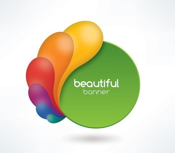 Beautiful Banner - vector gratuit #211895