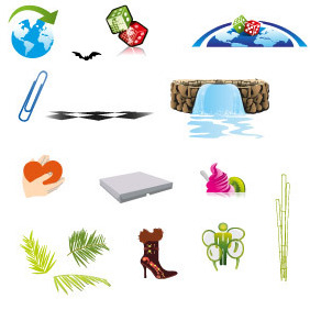 Various Vector Elements - Free vector #211915