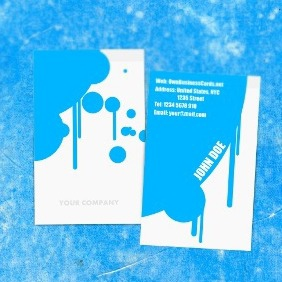 Painter Business Card - Kostenloses vector #211945