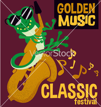 Free cartoon animal music festival design vector - Free vector #211985