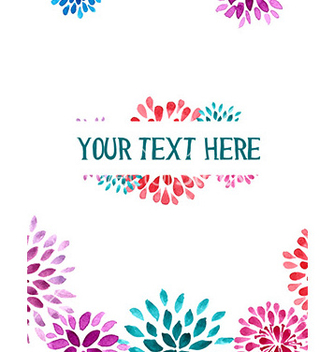Free watercolor vector - бесплатный vector #212125