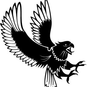 Eagle Attacking Vector - Free vector #212515