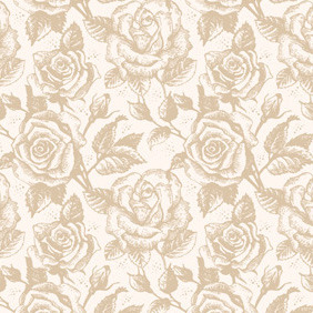 Retro Roses Pattern - Free vector #212565