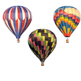 Vector Hot Air Baloons - vector gratuit #212705