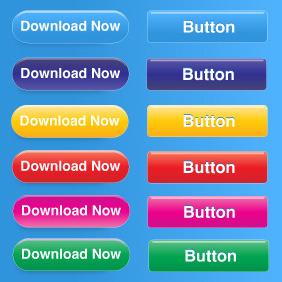 Free Button Set - Kostenloses vector #212895