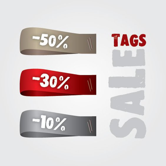 Sale Tags - Free vector #212925