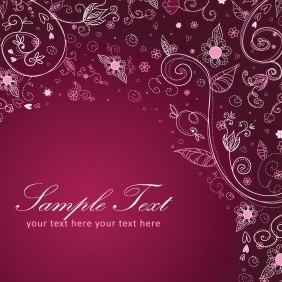 Floral Decorative Postcard - vector #213065 gratis
