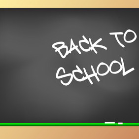 Back To School Blackboard - vector gratuit #213165