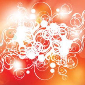 Compresed Swirls In Orange Red Background - Free vector #213235