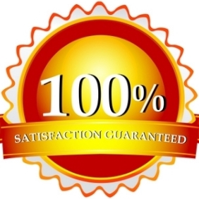 100% Satisfaction Guaranteed Logo - Free vector #213315