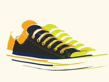 Pop Art Sneakers - бесплатный vector #213355