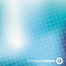 Blue Business Halftone Background - Free vector #213415