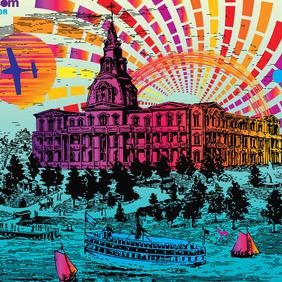 Vintage Postcard - vector gratuit #213465