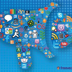 Social Media Graphics - Free vector #213645