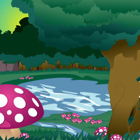 Mushroom Forest - Free vector #213665