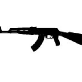 AK 47 Vector - Free vector #213705