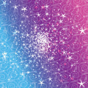 Ornaments Design In Blue, Purple & Pink Background - Kostenloses vector #213715
