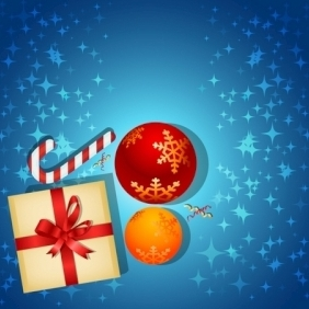 Christmas Card With Gifts - Free vector #213895