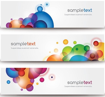 Beautiful Modern Banners - бесплатный vector #214155