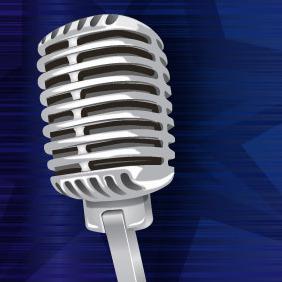 Vintage Microphone - Free vector #214175