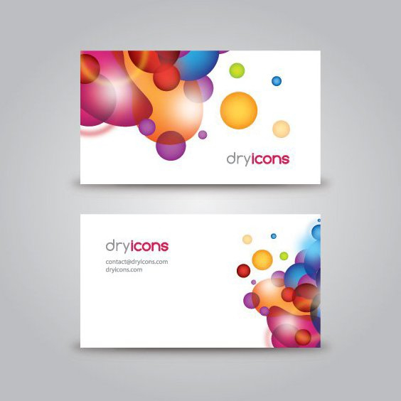 Business Card Template - Free vector #214225