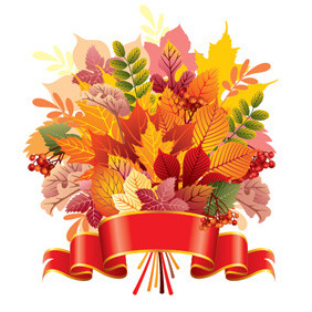 Autumn Leaf Bouquet - Free vector #214265