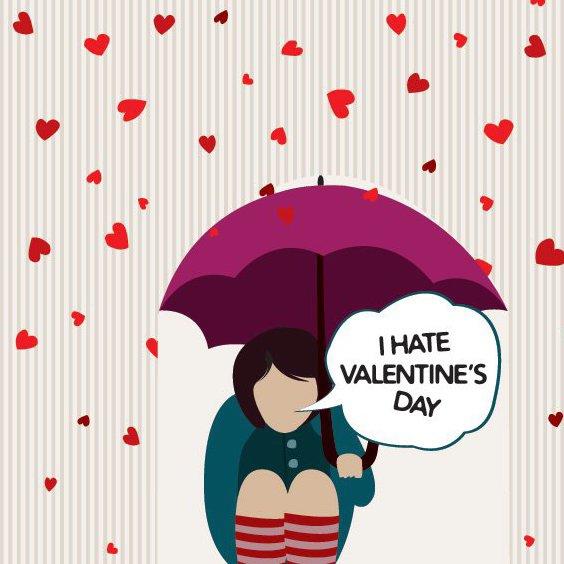 Я ненавижу день Святого Валентина - Free vector #214375
