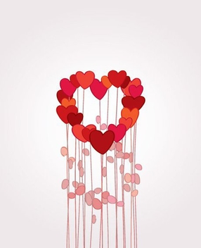 Flowers in Love - vector #214465 gratis