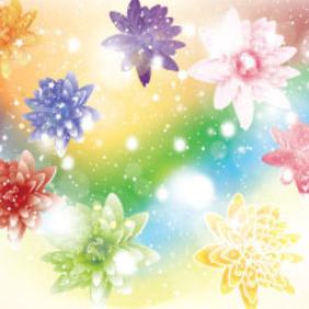 Wonderful Flowers Free Vector Art - Free vector #214575