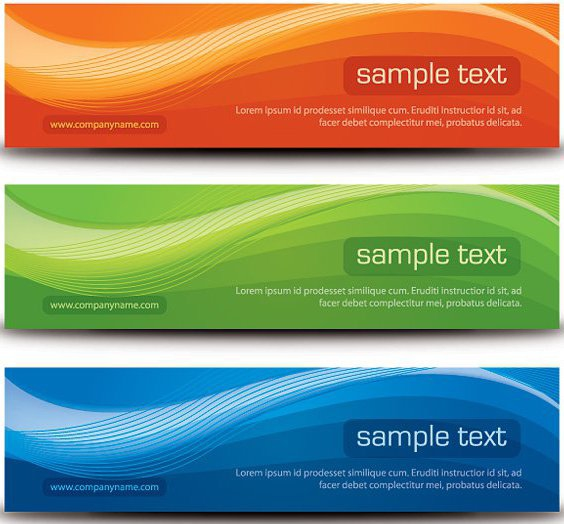 Stylish Banners - Free vector #214675