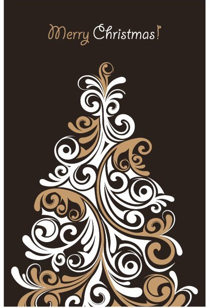 Christmas Tree Card 2 - Free vector #214775