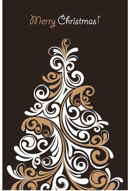 Cartão de árvore de Natal 2 - Free vector #214775