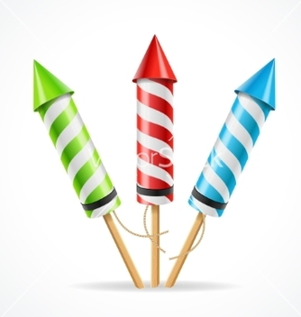Free fireworks rocket set vector - бесплатный vector #214795