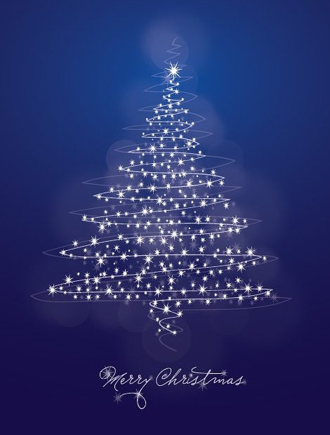 Tarjeta de Navidad azul - vector #214945 gratis