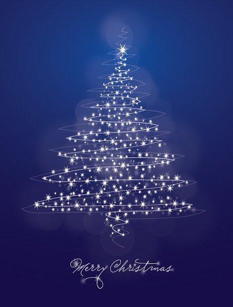 Christmas Card Blue - Free vector #214945