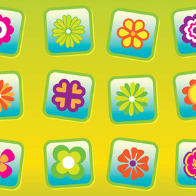 Free Flowers Vectors - Free vector #214965