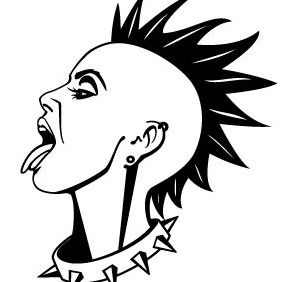 Punk Girl Vector Illustration - Free vector #215055