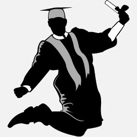 Free Graduate Silhouette - Free vector #215115
