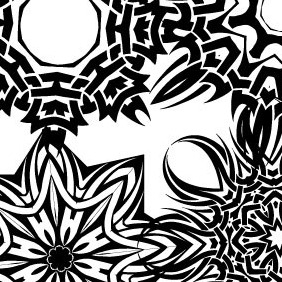 Tribal Stars Vector Set 1 - Free vector #215275