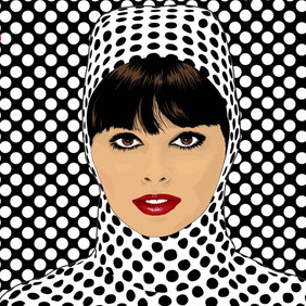 Pop Art Girl Vector - бесплатный vector #215385