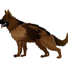 Dog Vector Art - Free vector #215625