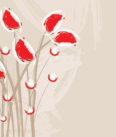 Художественный цветы - бесплатный vector #215685