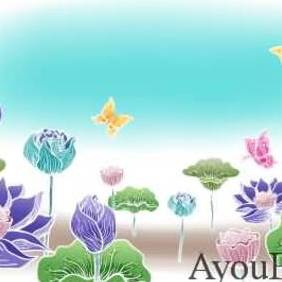 Flowers Butterfly Vector AyouBox.com - Free vector #215705
