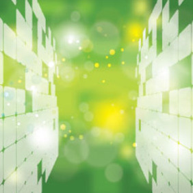 Abstract Green World Vector Transparent Bubbles - Free vector #215835