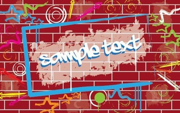 Graffiti Wall - vector #215845 gratis