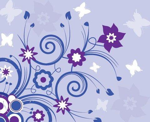 Verão violeta - Free vector #215855