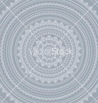 Free silver mandala vector - vector gratuit #215945